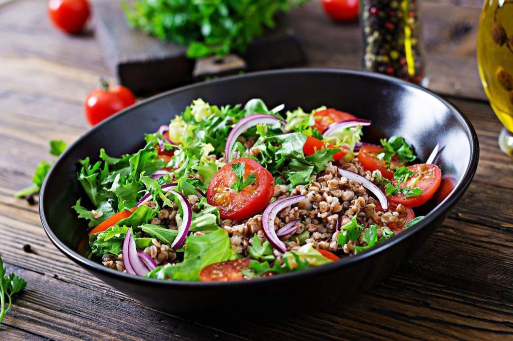 Салат з гречаної каші