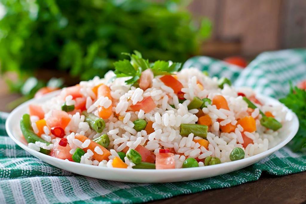 рис і овочі